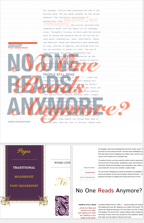 The Typographic Page: Post Modernist